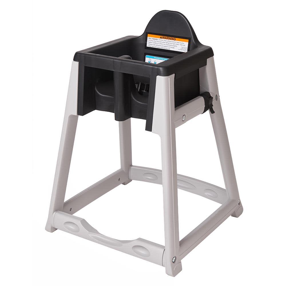 "Koala Kare KB877-02 27"" High Chair/Infant Seat Cradle w/ Waist Strap - Plastic, Gray/Black"
