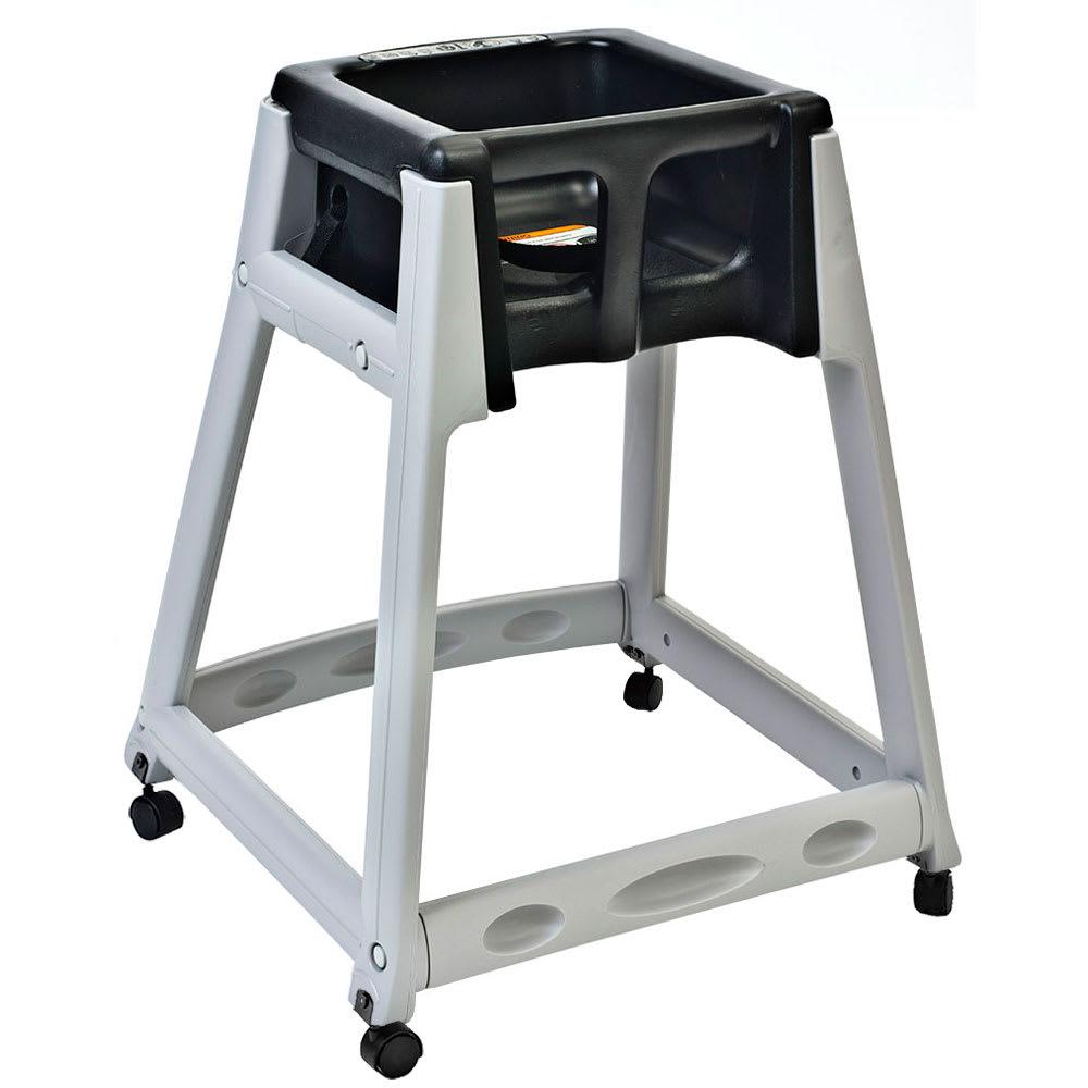 "Koala Kare KB877-02W 27"" High Chair/Infant Seat Cradle w/ Waist Strap & Casters - Plastic, Gray/Black"