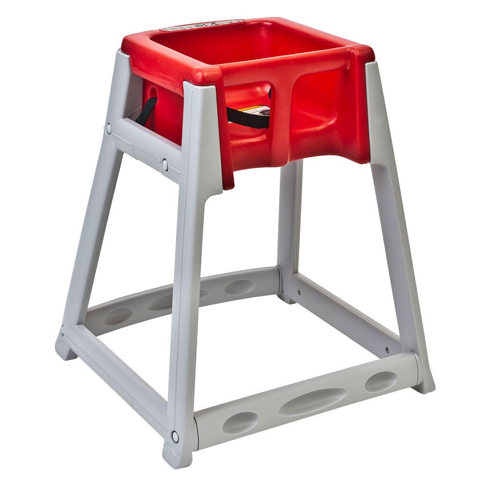 "Koala Kare KB877-03 27"" High Chair/Infant Seat Cradle w/ Waist Strap - Plastic, Gray/Red"