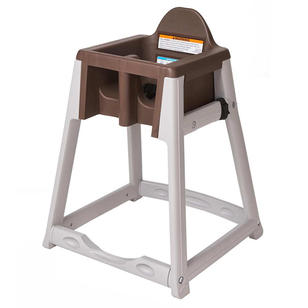 "Koala Kare KB877-09 27"" High Chair/Infant Seat Cradle w/ Waist Strap - Plastic, Gray/Brown"