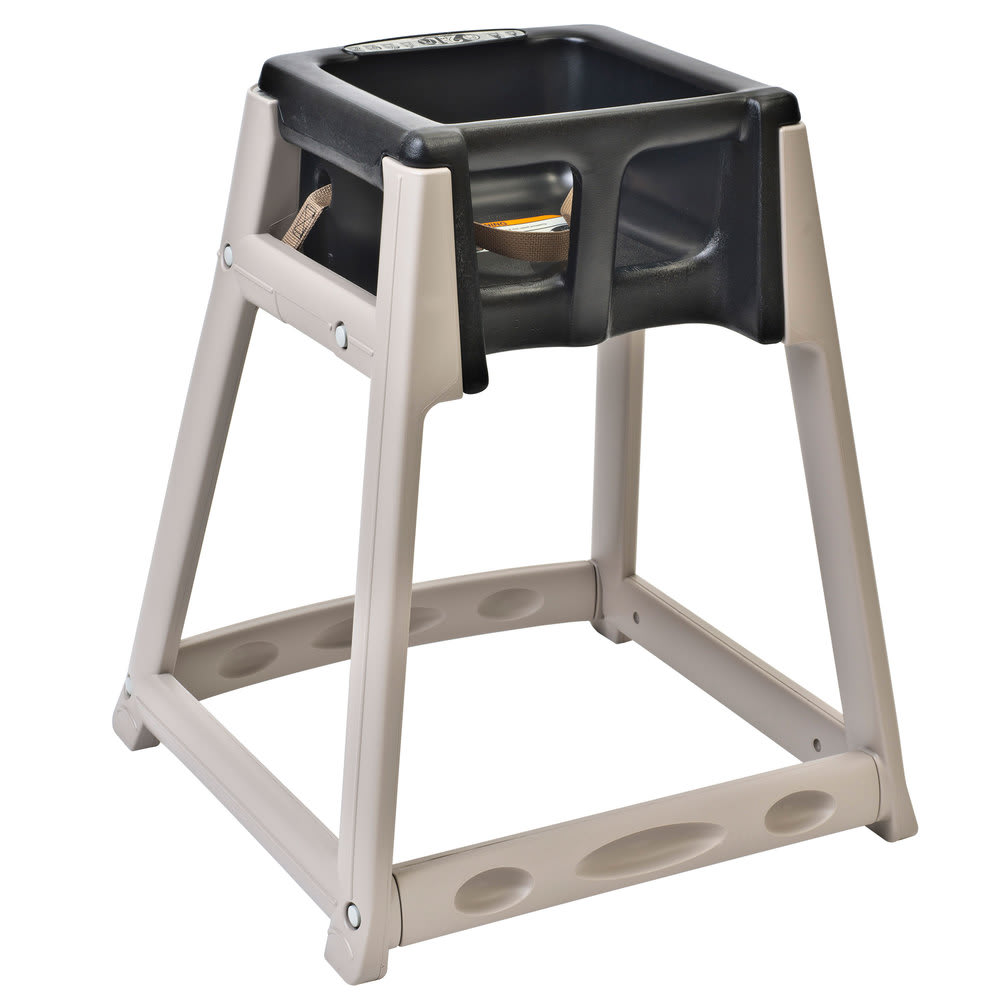 "Koala Kare KB888-02 27"" High Chair/Infant Seat Cradle w/ Waist Strap - Plastic, Beige/Black"