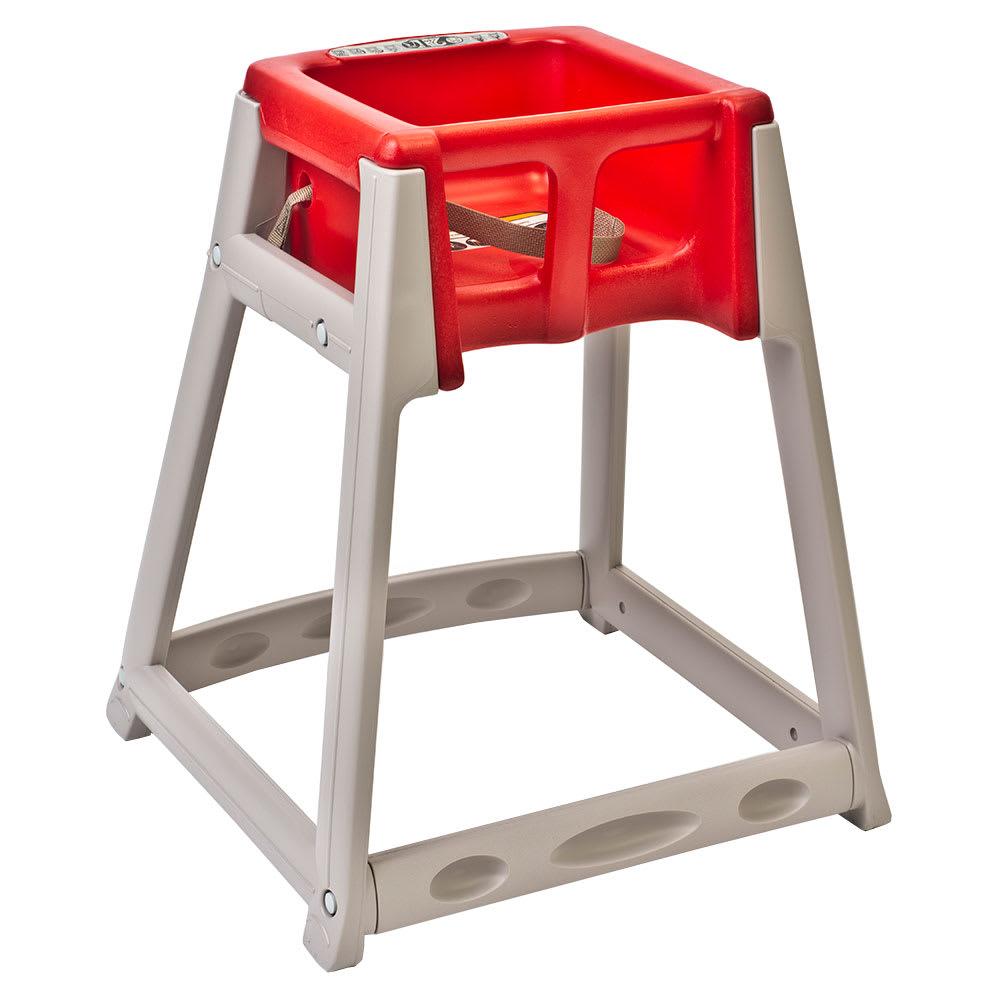 "Koala Kare KB888-03 27"" High Chair/Infant Seat Cradle w/ Waist Strap - Plastic, Beige/Red"