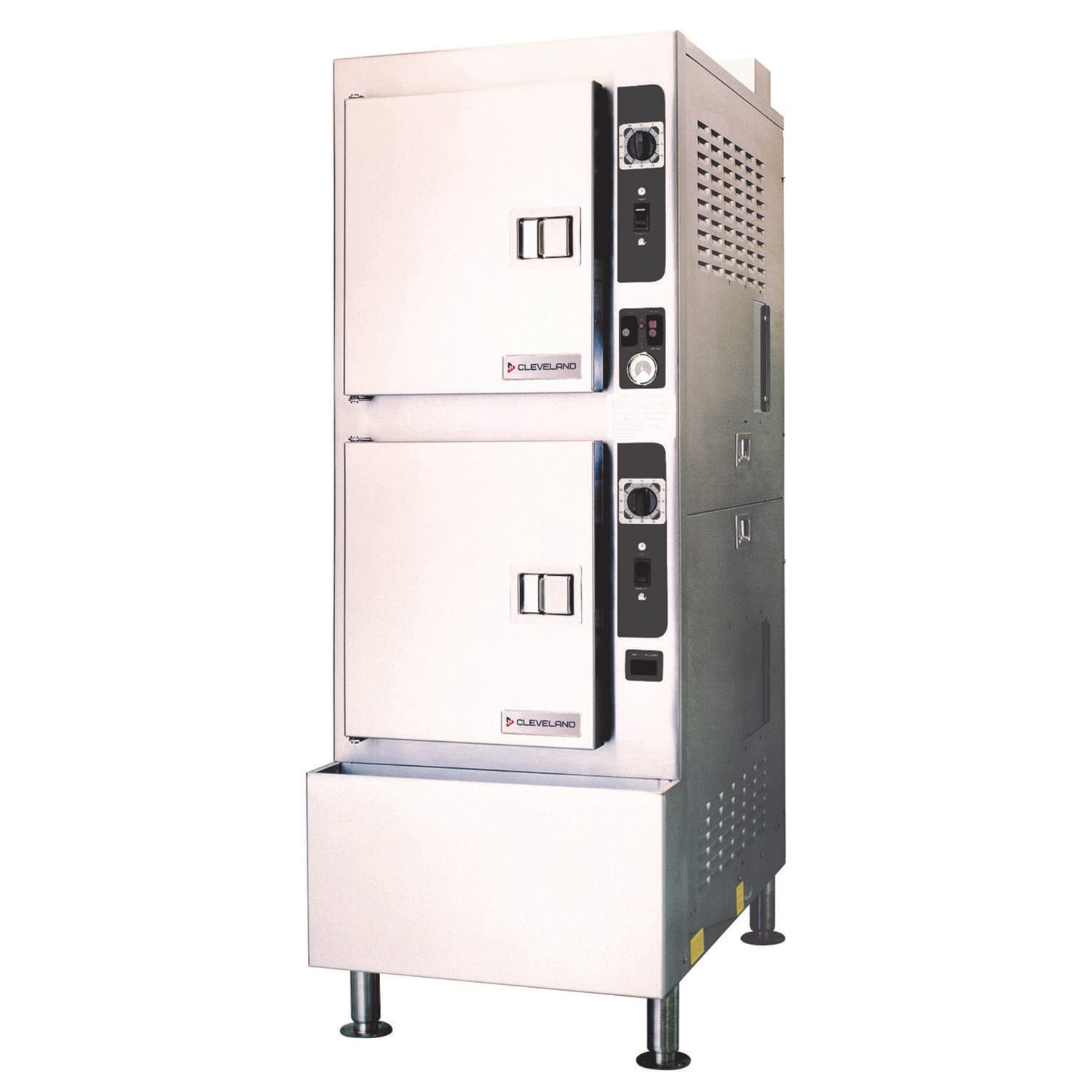 Cleveland 24CEA10 Electric Floor Model Steamer w/ (10) Full Size Pan Capacity, 208v/3ph