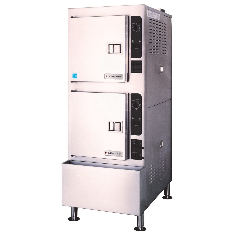 Cleveland 24CGA10.2ES Gas Floor Model Steamer w/ (10) Full Size Pan Capacity, LP