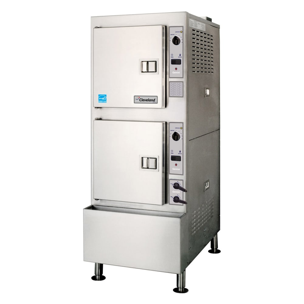 Cleveland 24CGA10.2 Gas Floor Model Steamer w/ (10) Full Size Pan Capacity, LP