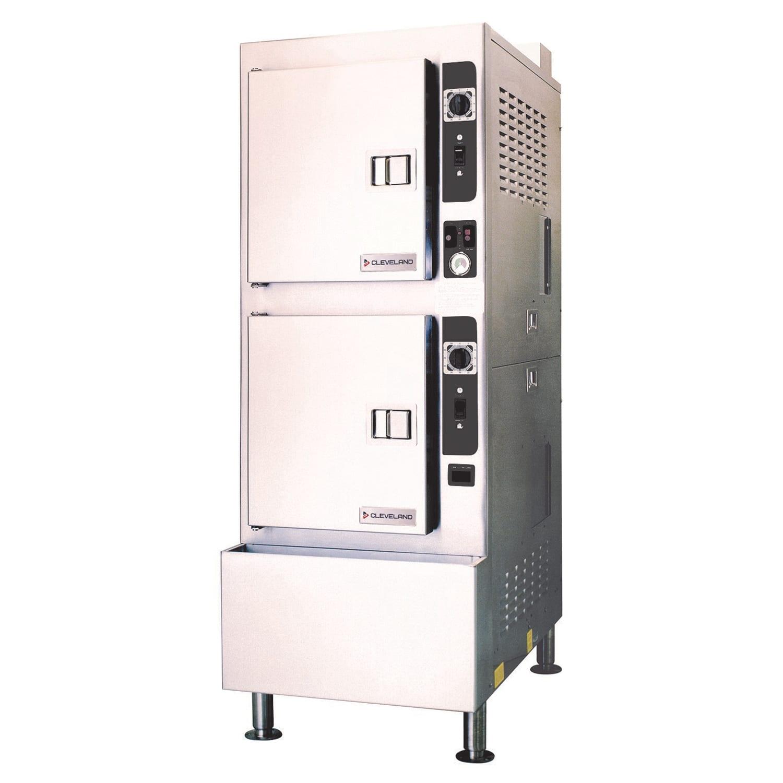 Cleveland 24CGA10 Gas Floor Model Steamer w/ (10) Full Size Pan Capacity, NG