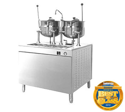 """Cleveland 36DMK1010 Direct Steam Kettle w/ (2) 10-Gallon Capacity, 36"""" Base, Stainless"""