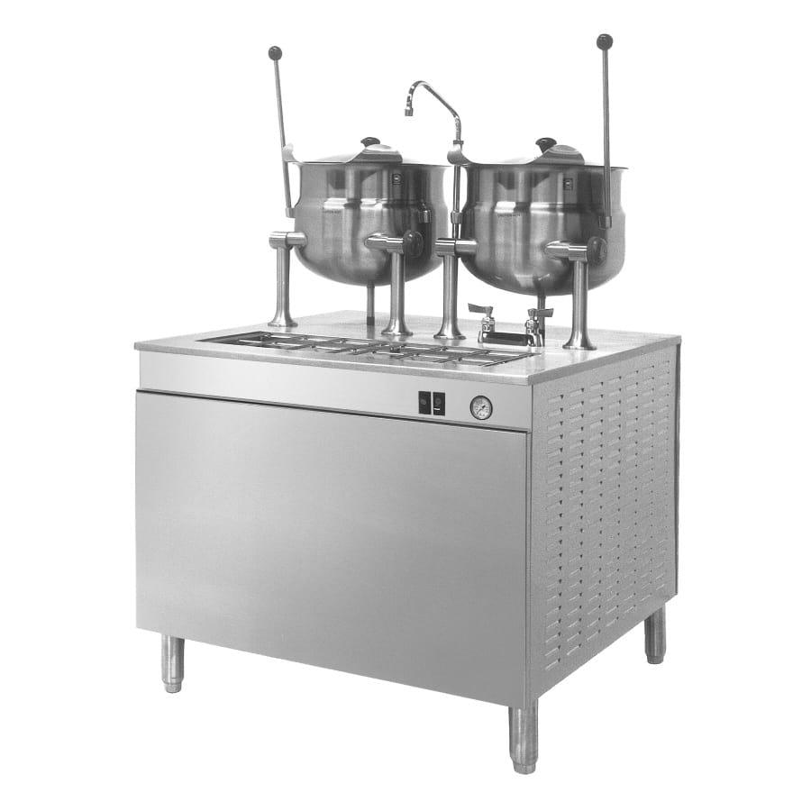 "Cleveland 36DMK66 36"" Direct Steam Kettle w/ (2) 6-Gallon Capacity, Double Faucet"
