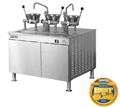 Cleveland 36EMK1124 2083 Kettle Cabinet Assembly w/ (2) 80-oz Oyster Kettles, 36-in Base, 208/3 V