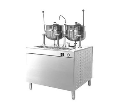 "Cleveland 36EMK6624 36"" Kettle Cabinet Assembly w/ (2) 6-Gallon, Boiler, Double Faucet, 208v/3ph"