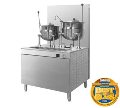 """Cleveland 36GMK1010200 NG Kettle Cabinet Assembly w/ (2) 10-Gallon Kettles, 36"""" Base, NG"""
