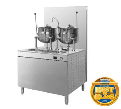 "Cleveland 36GMK66200 LP Kettle Cabinet Assembly w/ (2) 6-Gallon Kettles, 36"" Base, LP"