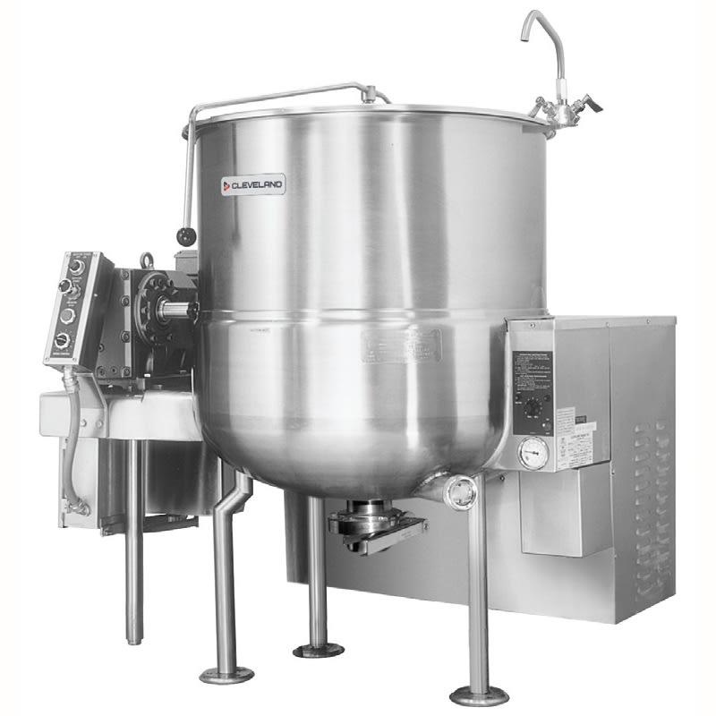 Cleveland HA-MKGL-100 LP 100-Gallon Stationary Mixer Kettle w/ Horizontal Agitator, LP