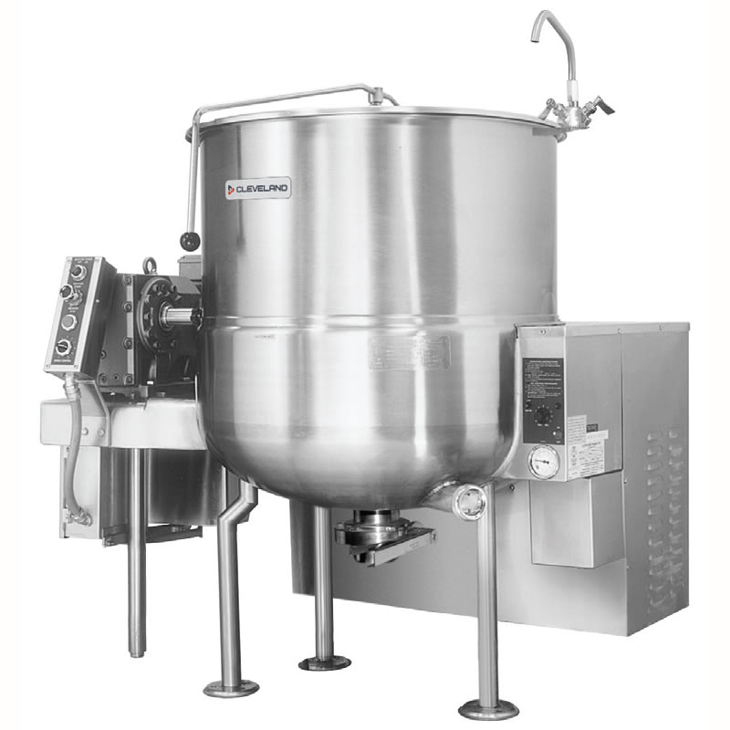 Cleveland HAMKGL100 100-Gallon Stationary Mixer Kettle w/ Horizontal Agitator, NG