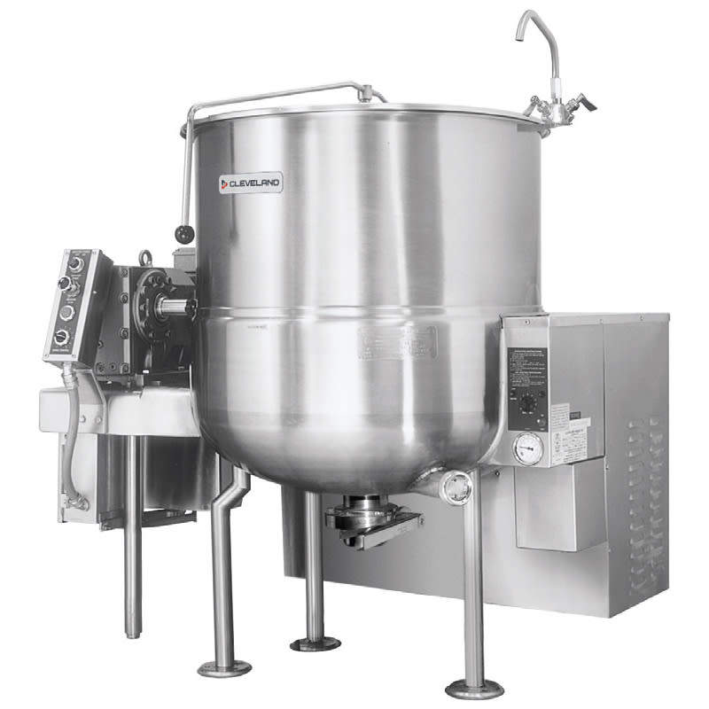Cleveland HAMKGL80 80 Gallon Stationary Mixer Kettle w/ Horizontal Agitator, LP