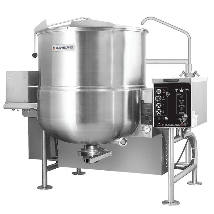 Cleveland HAMKGL80T 80 Gallon Tilting Mixer Kettle w/ Horizontal Agitator, LP