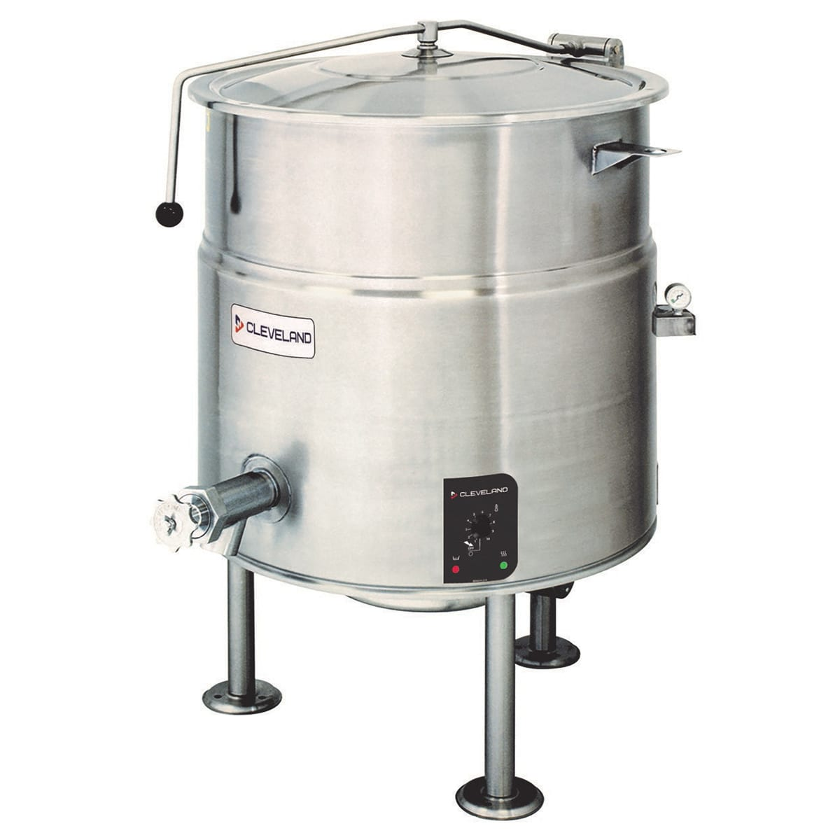 Cleveland KEL25 25-Gallon Kettle w/ Open Tri-Leg Base, 2/3 Jacket, 208v/3ph