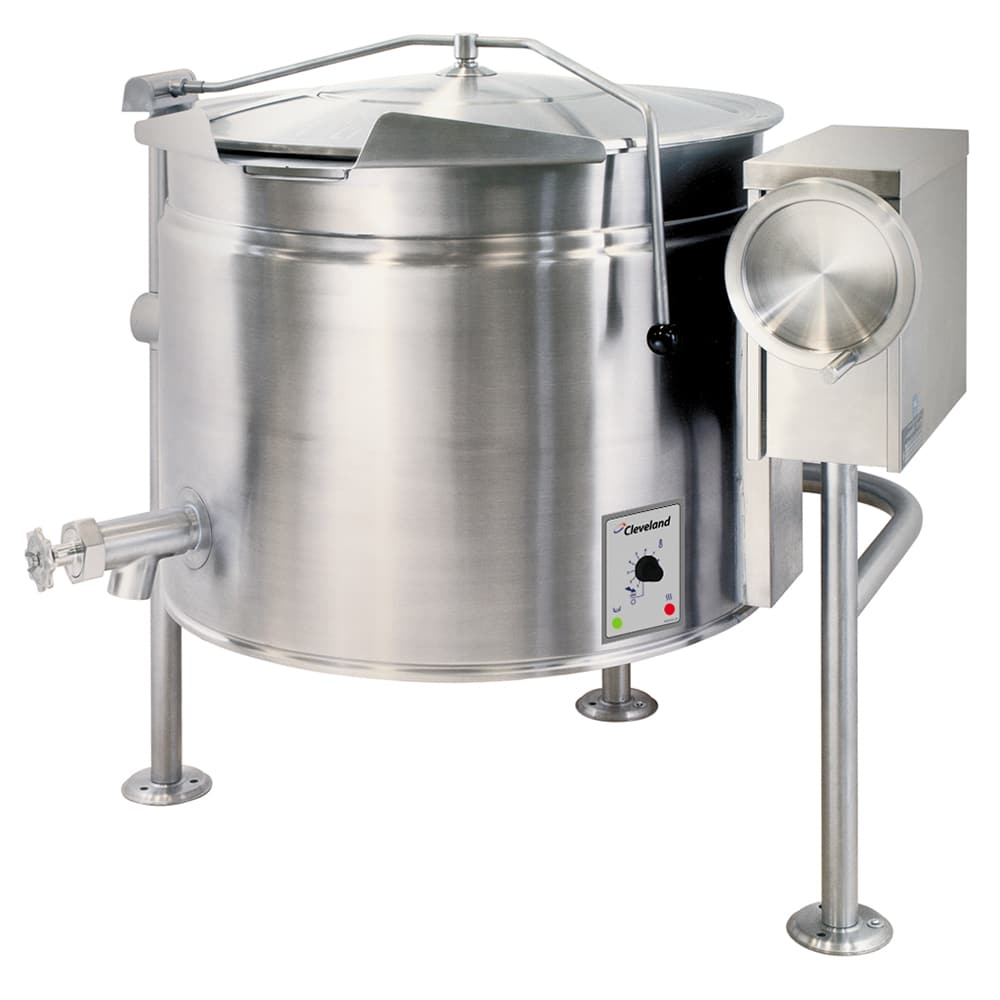 Cleveland KEL40T 40 gal Tilting Kettle w/ Open 3 Leg Base, 2/3 Steam Jacket, 240v/3ph