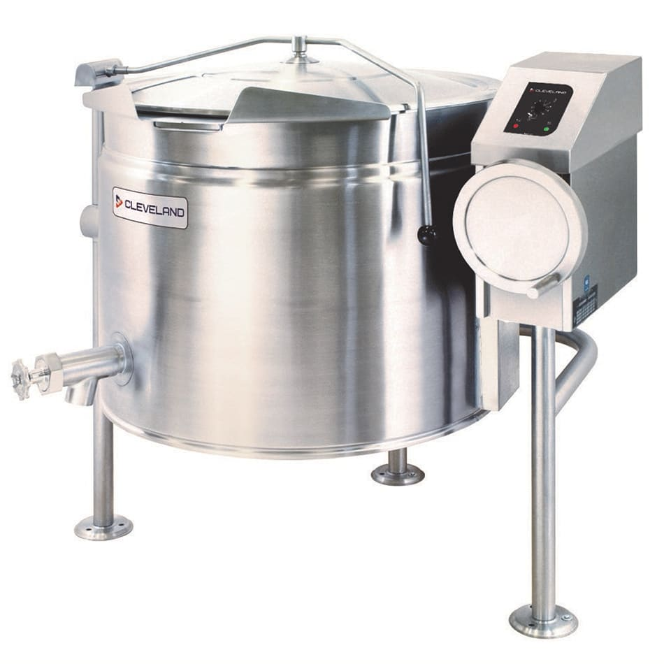 Cleveland KEL40TSH 40-gal Short Tilt Kettle w/ Full Steam Jacket, Open 3-Leg Base, 208v/3ph