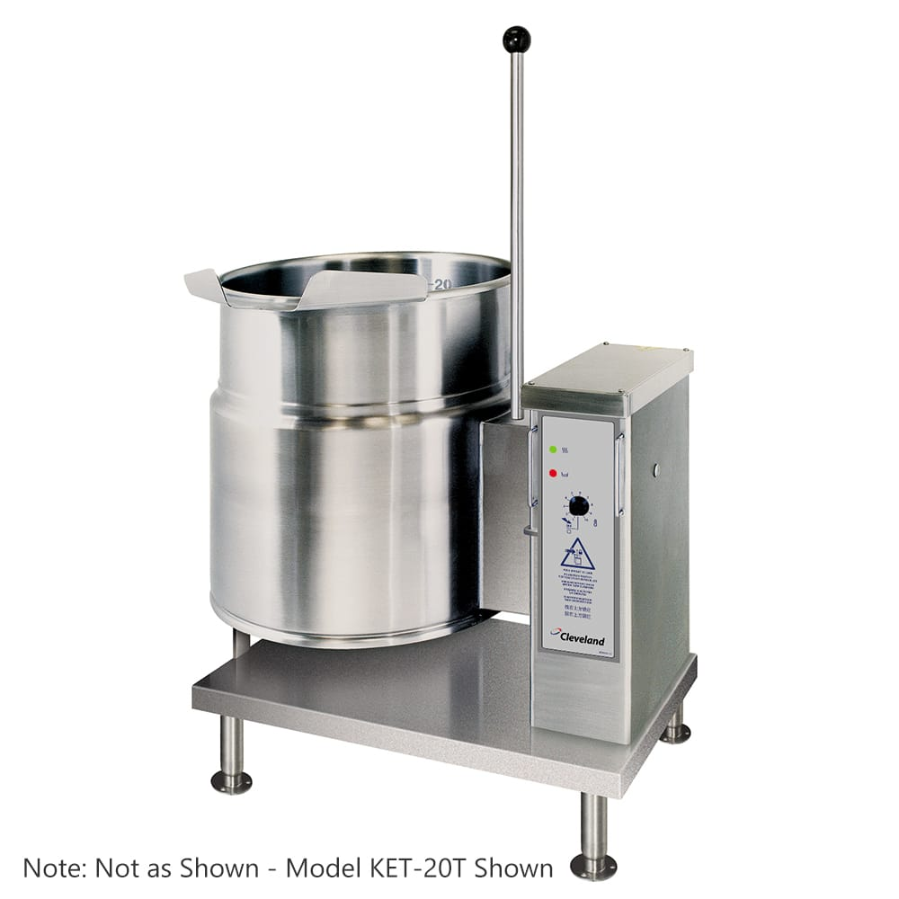 Cleveland KET12T 12-gal Tabletop Tilting Kettle w/ Open 3-Leg, 2/3 Steam Jacket, 208v/3ph