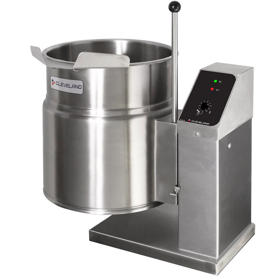 Cleveland KET-6-T 2403 6-gal. Steam Kettle - Manual Tilt, 2/3 Jacket, 240v/3ph
