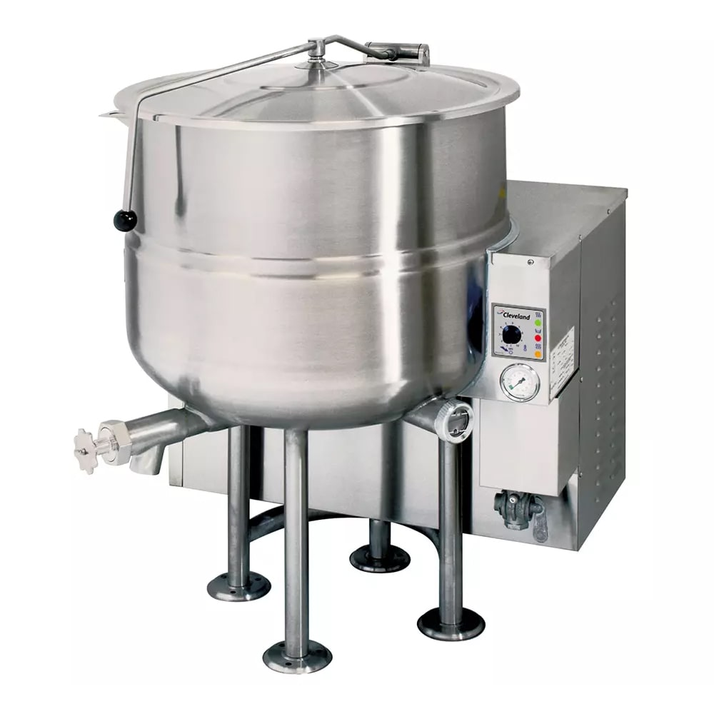 Cleveland KGL100 100-Gallon Stationary Kettle w/ Electronic Ignition, 2/3 Steam Jacket, LP