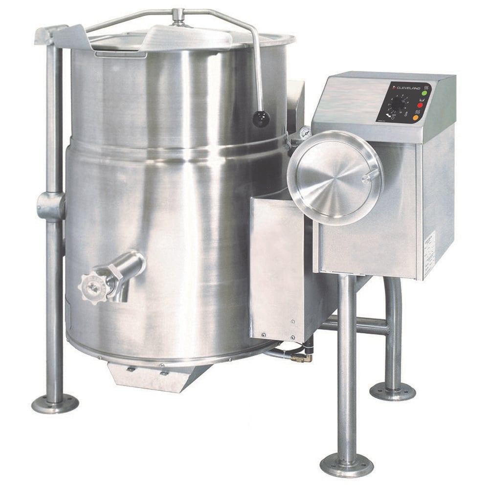 Cleveland KGL25T 25 Gallon Tilting Kettle w/ Electronic Ignition, 2/3 Steam Jacket, NG