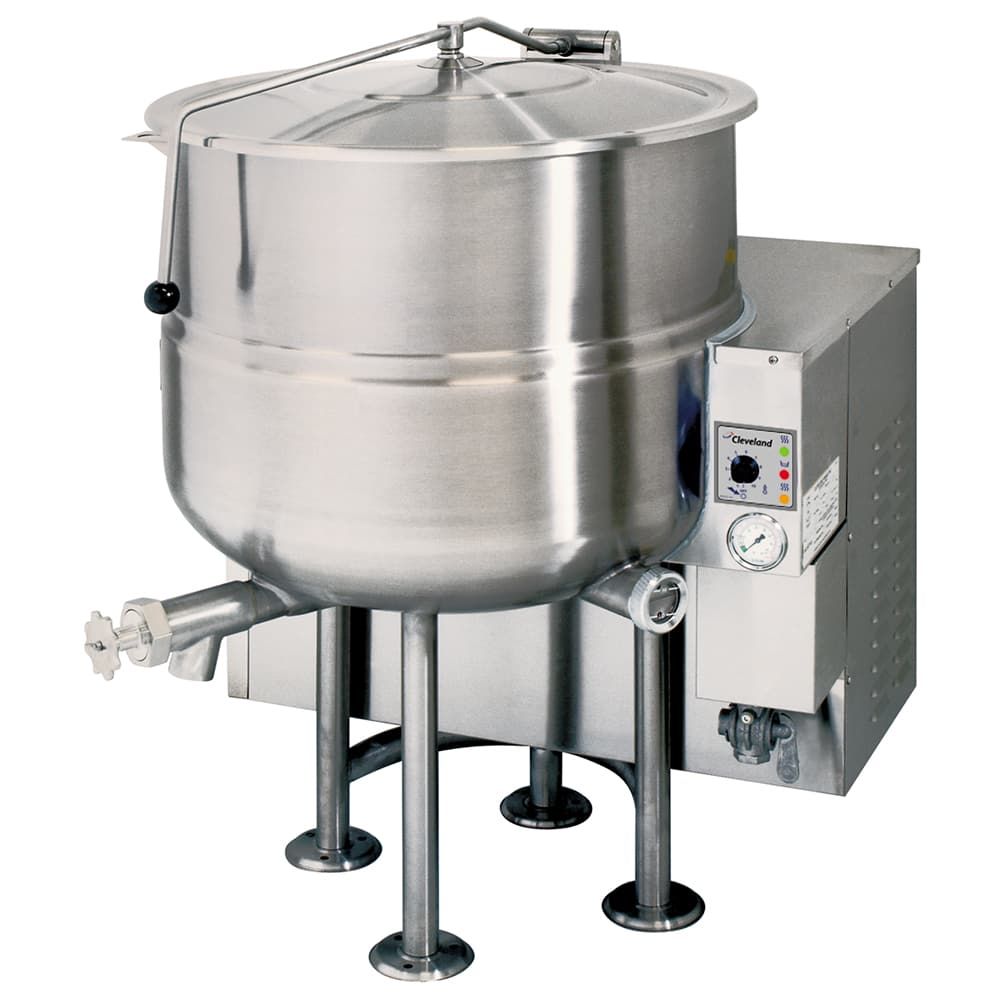 Cleveland KGL40 40 Gallon Stationary Kettle w/ Electronic Ignition, 2/3 Steam Jacket, LP