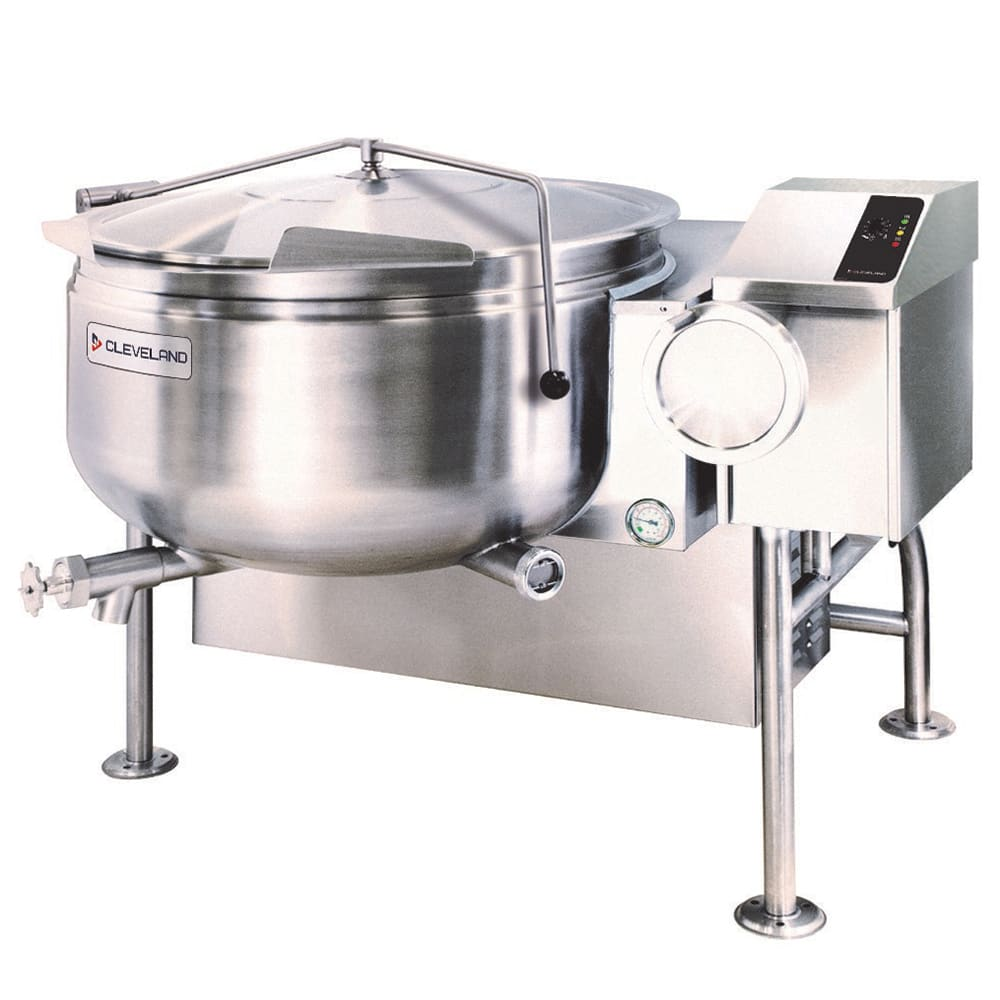 Cleveland KGL40TSH 40-Gallon Short Series Full Steam Jacketed Kettle w/ Tilting, NG