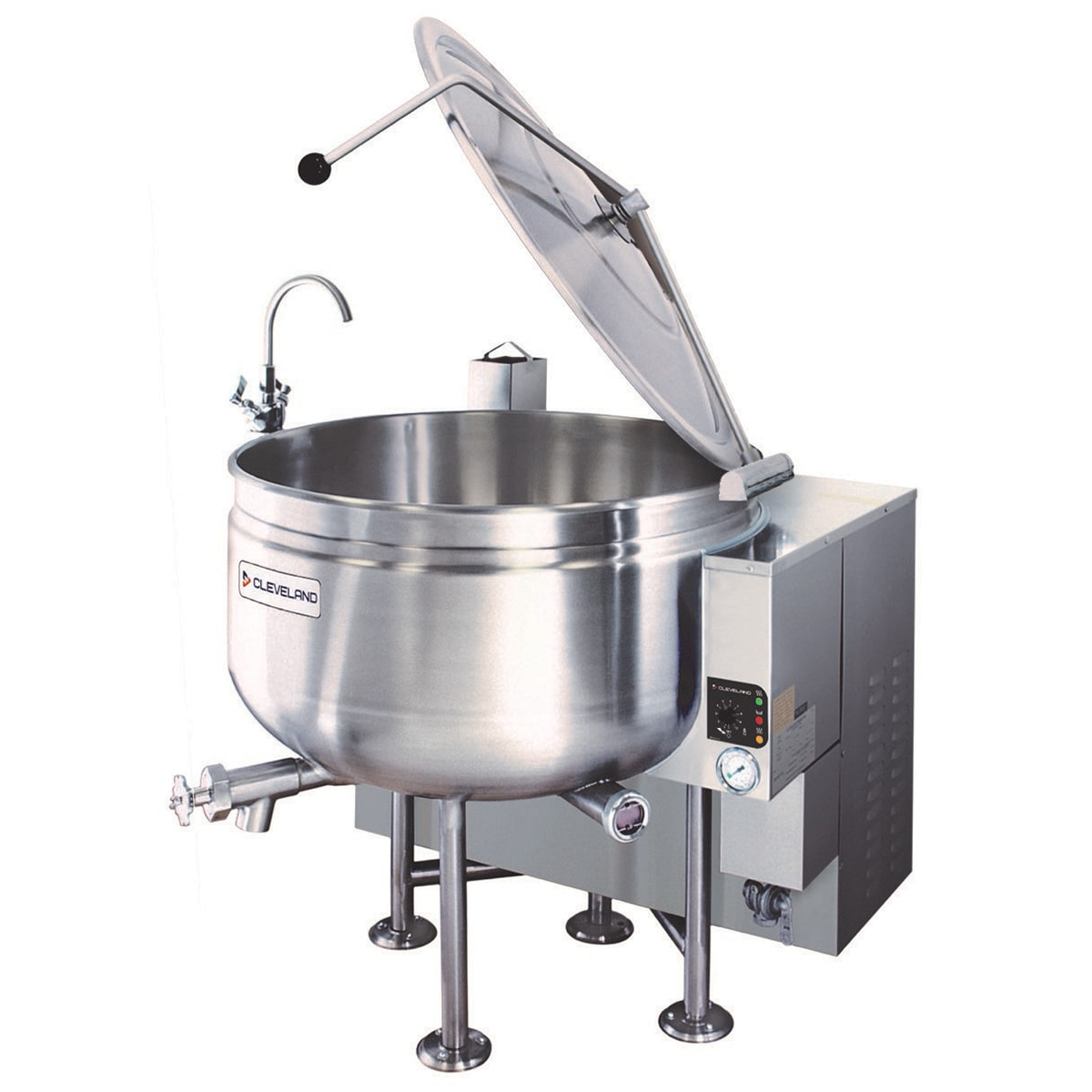 Cleveland KGL60SH 60-Gal Full Steam Jacketed Kettle w/ Solid-State Temperature Controls, NG