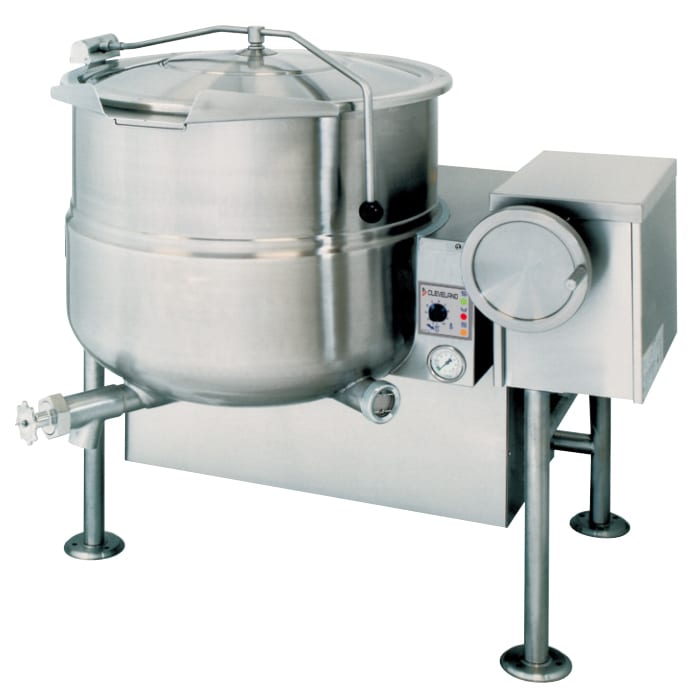 Cleveland KGL80T 80 Gallon Tilting Kettle w/ Electronic Spark, 2/3 Steam Jacket, NG