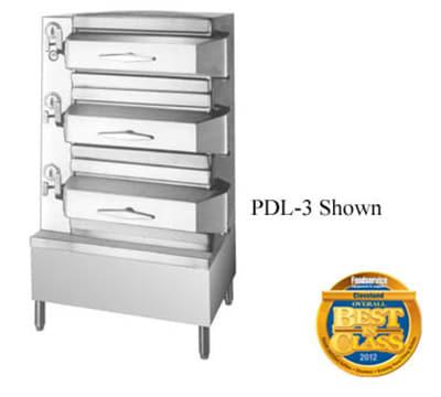 Cleveland PDL3 Direct Steam Floor Model Steamer w/ (24) Full Size Pan Capacity, 120v