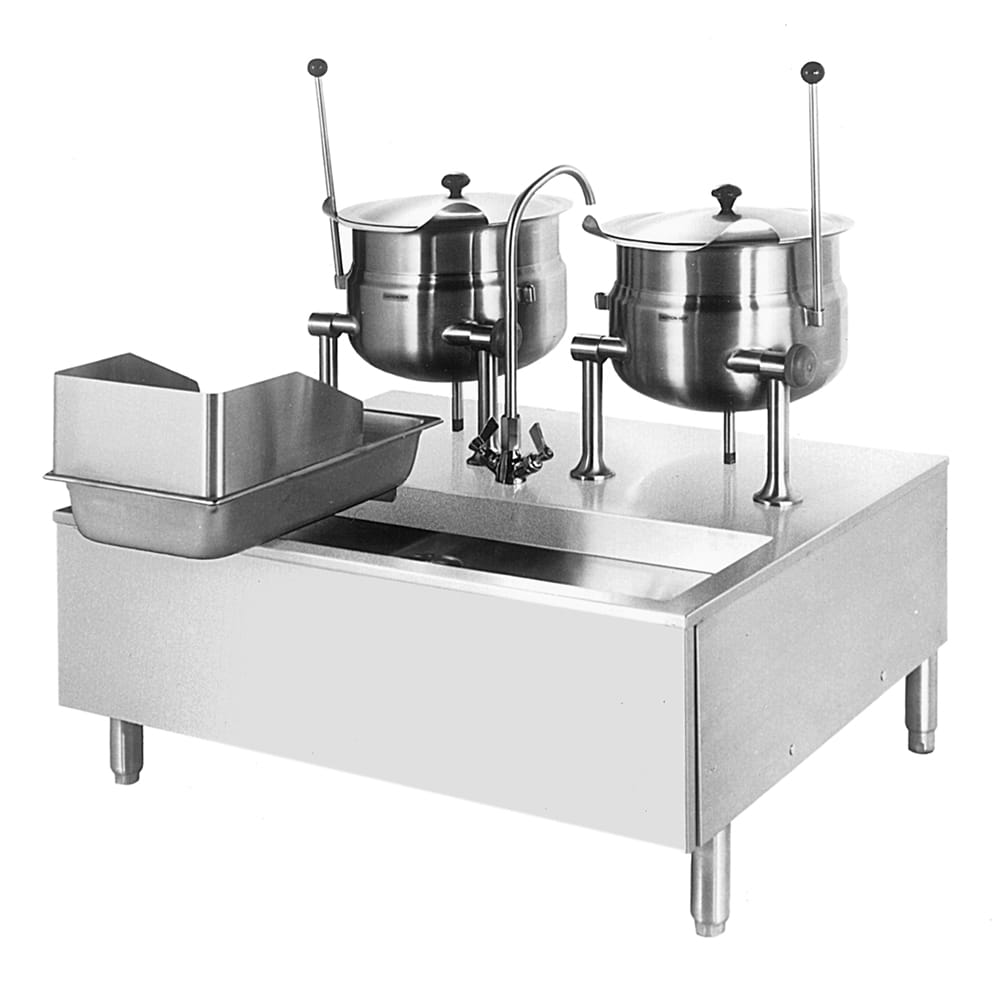 Cleveland SD1050K66 Direct Steam Kettle Cabinet Assembly w/ (2) 6 Gallon, Double Faucet