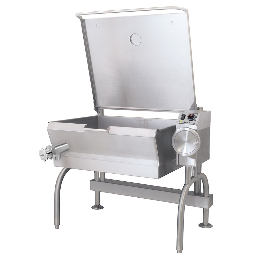 Cleveland SEL30T1 30 gal Tilt Skillet w/ Bead Blasted Surface, Open Leg, 240v/1ph