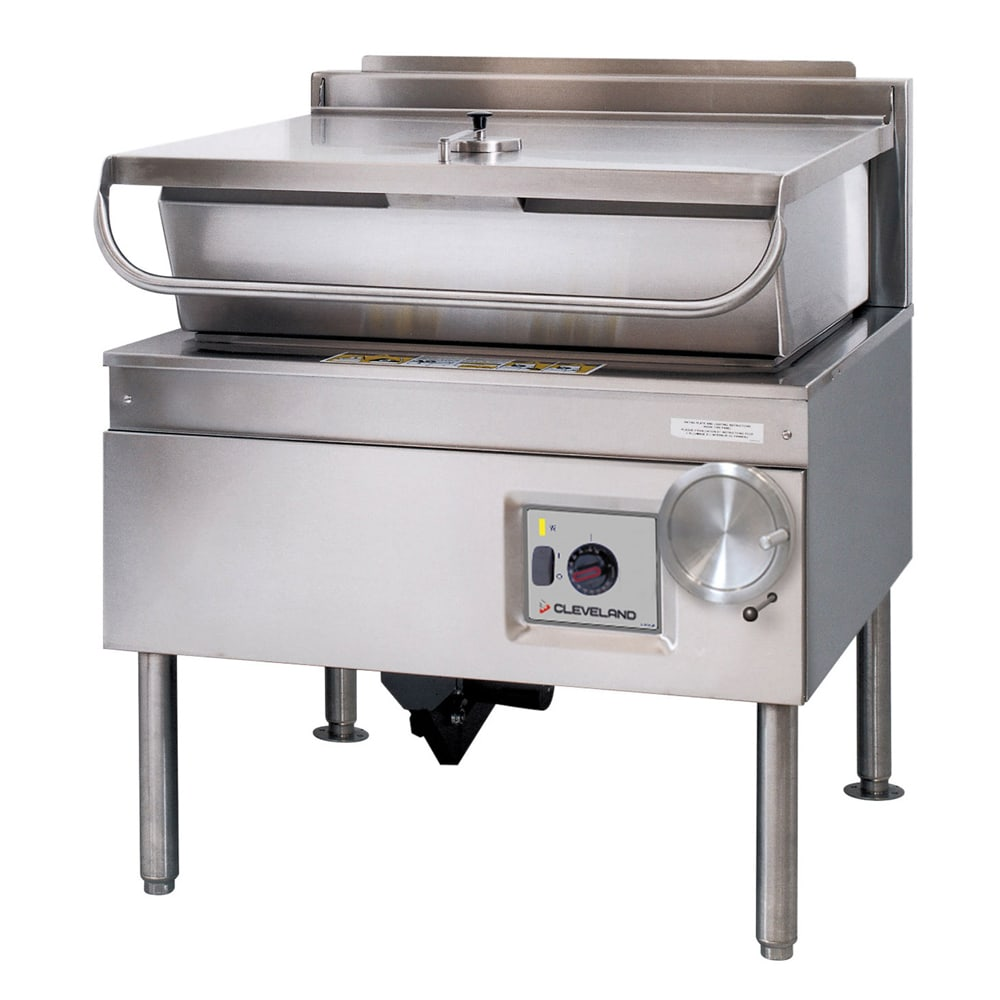 Cleveland SEL40TR 40 gal Tilting Skillet w/ Modular Open Base & Spring Assisted Cover, 208v/1ph
