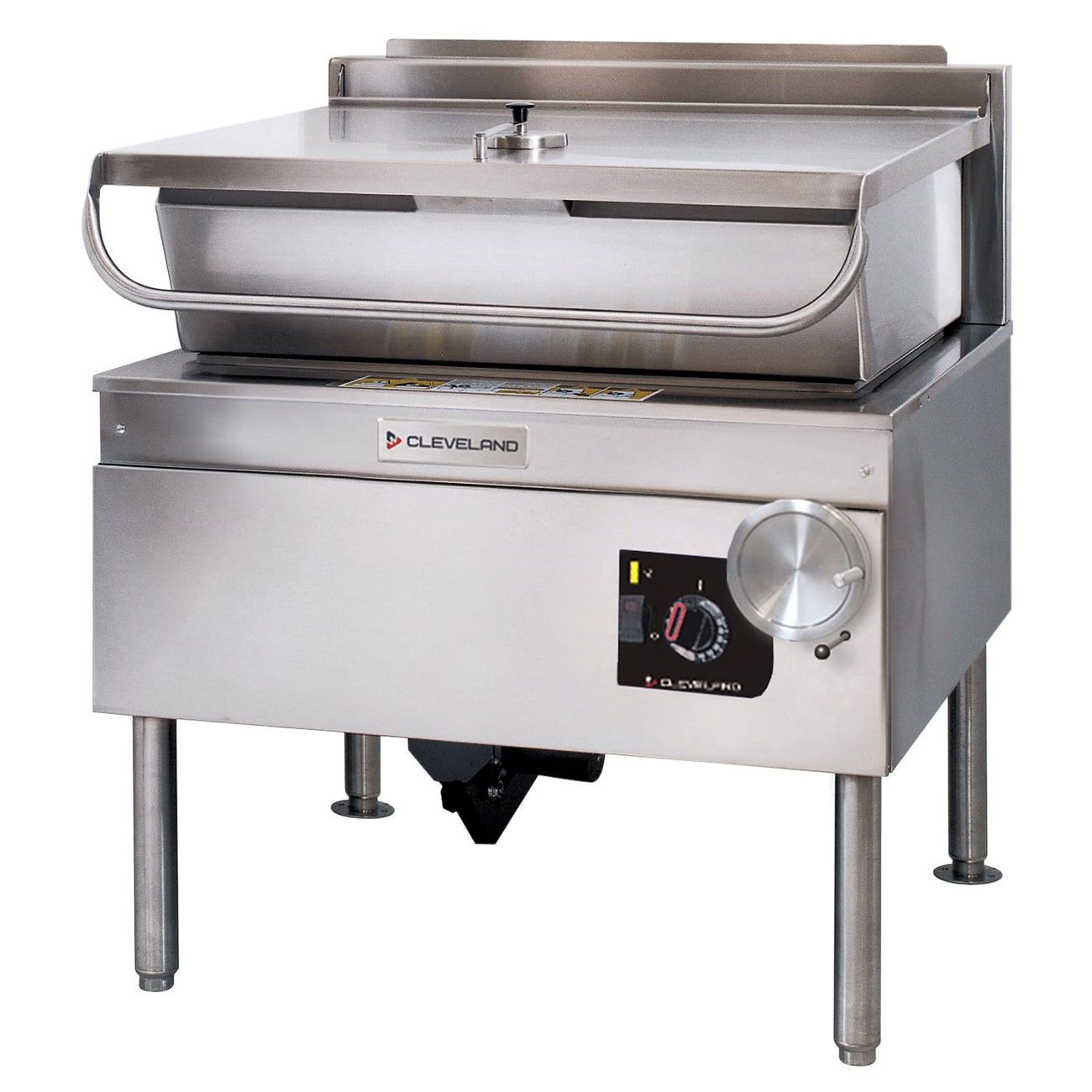 Cleveland SGL40TR NG 40-gal Tilting Skillet w/ Modular Open Base & Spring Assisted Cover Stainless NG