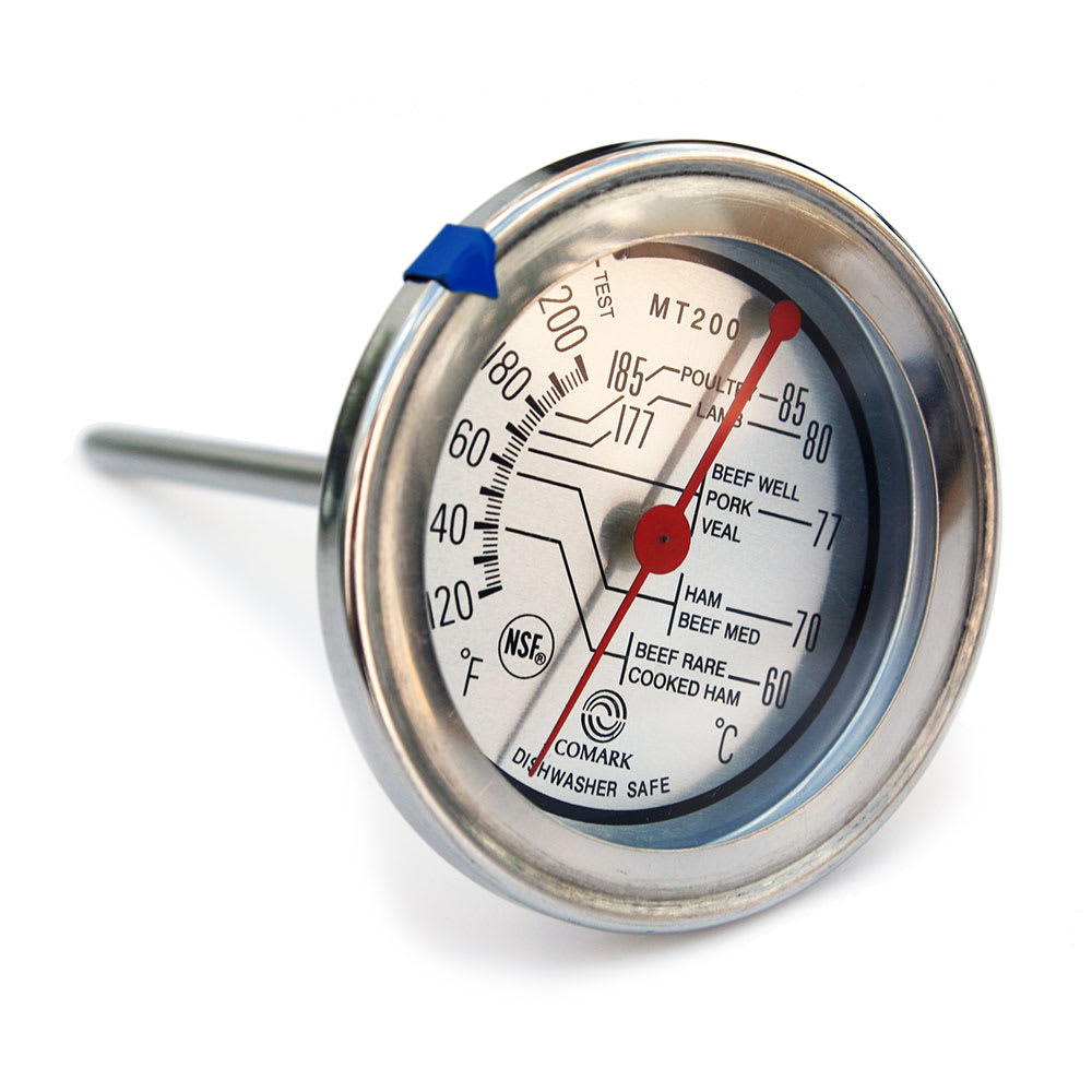 "Comark MT200K Meat Thermometer, 2 3/4""Dial, 120 to 200 F"