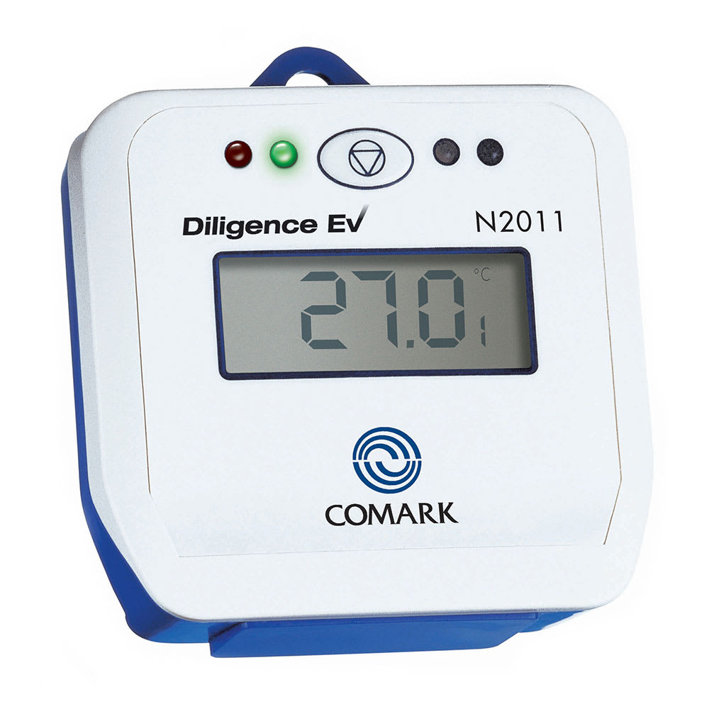 Data Logger Thermometer : Comark n diligence ev thermistor data logger w