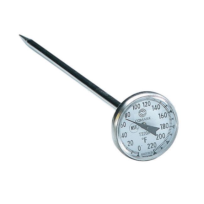 "Comark T220AK Pocket Thermometer w/ 1"" Dial & 5"" Stem"