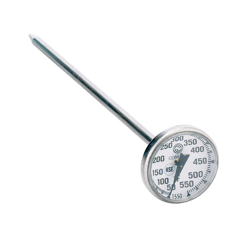 "Comark T550/38 Pocket Thermometer w/ Dial & 8"" Stem, 50 To 550 Degrees F"