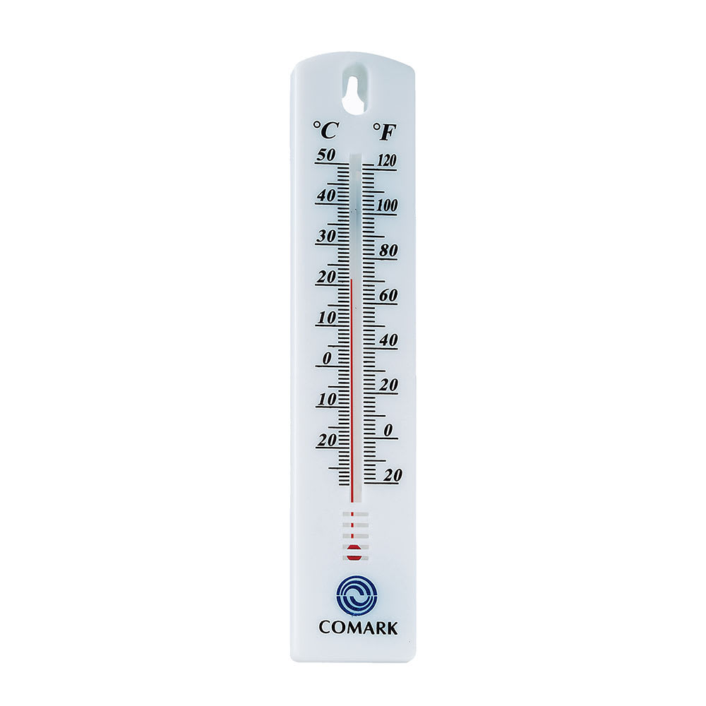 Comark WT4 Wall Thermometer w/ Farenheit and Celcius On Display Card