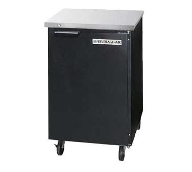 "Beverage Air BB24-1-B 24"" (1) Section Bar Refrigerator - Swinging Solid Door, 115v"