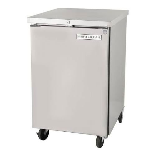 "Beverage Air BB24HC-1-S 24"" (1) Section Bar Refrigerator - Swinging Solid Door, 115v"