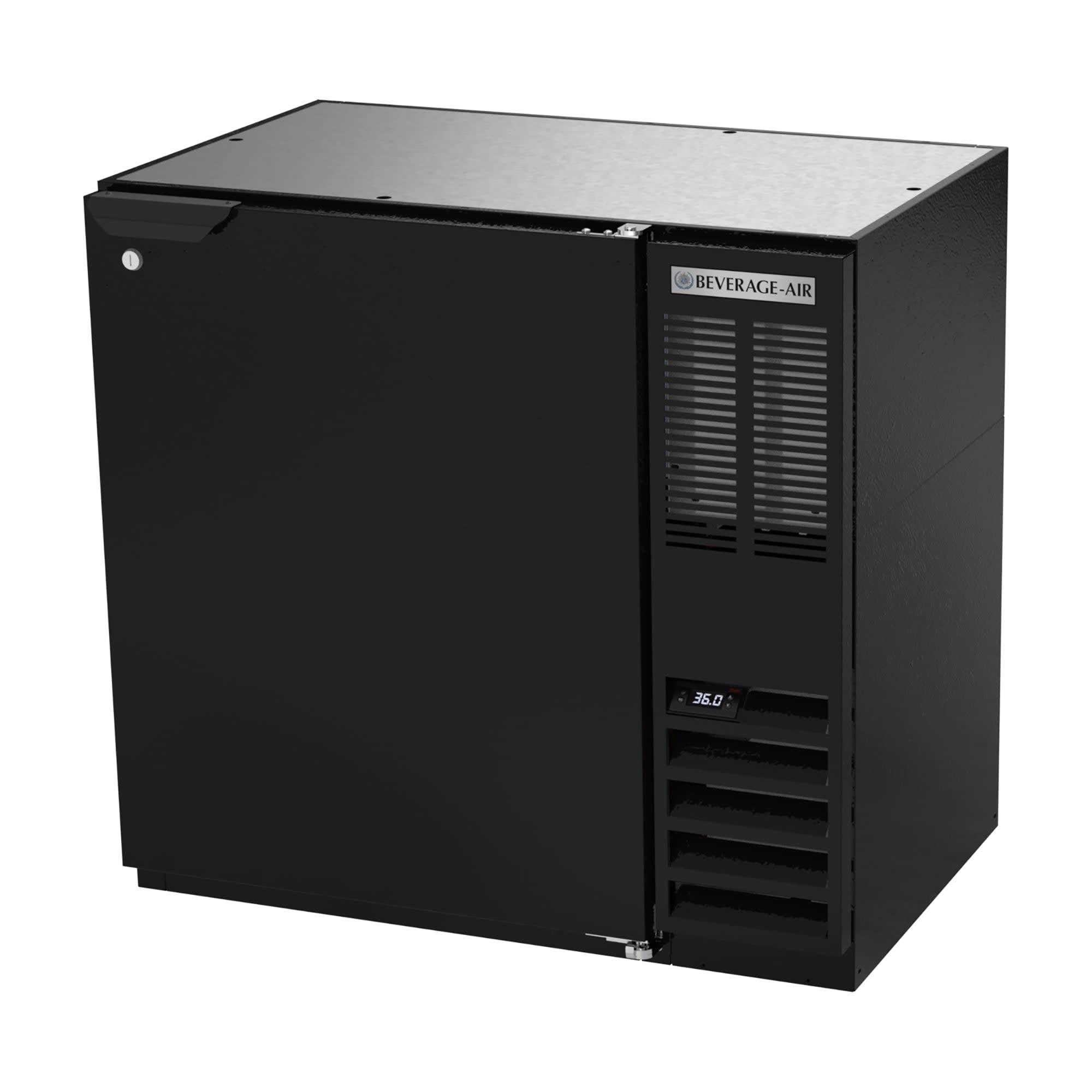 "Beverage Air BB36HC-1-F-B 36"" (1) Section Bar Refrigerator - Swinging Solid Door, 115v"