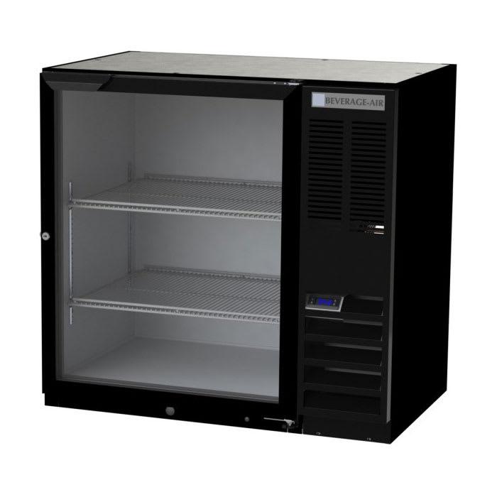 "Beverage Air BB36HC-1-FG-S-27 36"" (1) Section Bar Refrigerator - Swinging Glass Door, 115v"