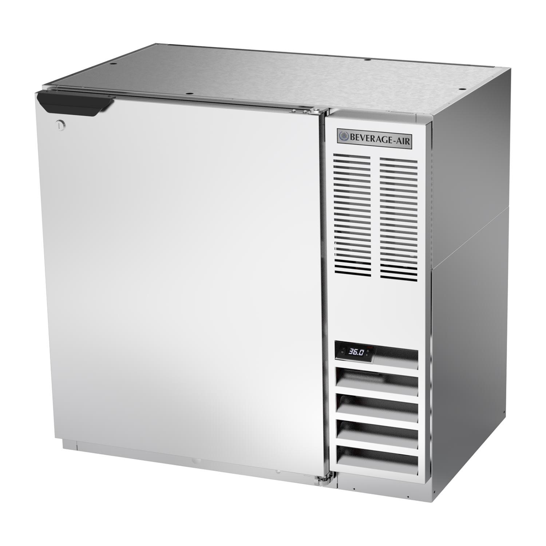 "Beverage Air BB36HC-1-S 36"" (1) Section Bar Refrigerator - Swinging Solid Door, 115v"