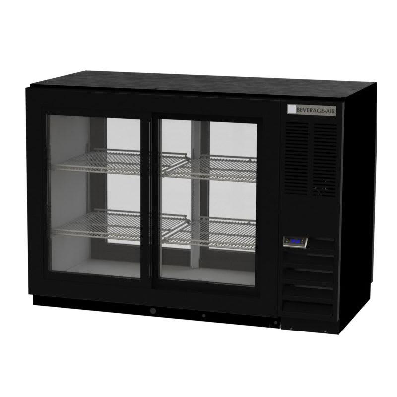"Beverage Air BB48HC-1-GS-F-PT-S 48"" (2) Section Bar Pass Thru Refrigerator - Sliding Glass Doors, 115v"