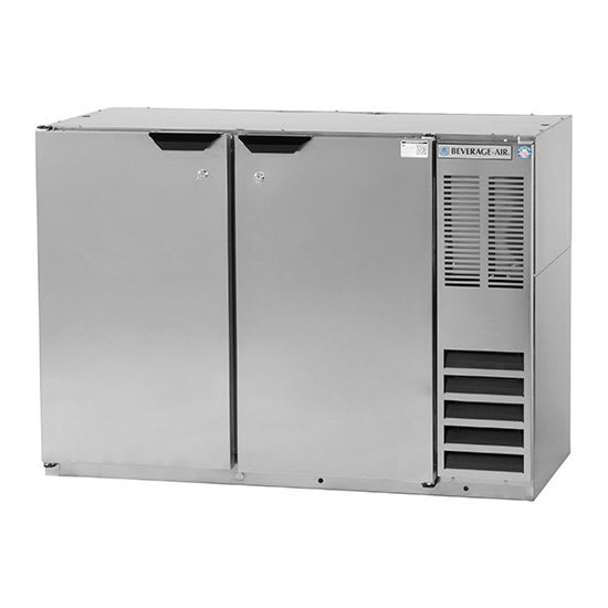 "Beverage Air BB48HC-1-S 48"" (2) Section Bar Refrigerator - Swinging Solid Doors, 115v"