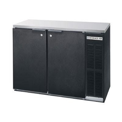 "Beverage Air BB48Y-1-B-27 48"" (2) Section Bar Refrigerator - Swinging Solid Doors, 115v"
