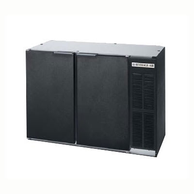 "Beverage Air BB48Y-1-B-PT 48""  (2) Section Bar Refrigerator - Swinging Solid Doors, 115v"